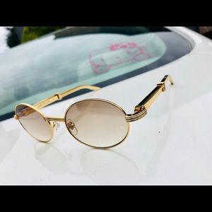 Vintage Cartier 18k Stainless Steel Sunglasses